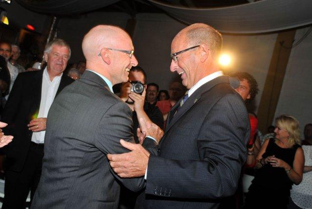 L'association officielle entre Jean-Denis Girard et Yves Lévesque... (Photo: Émilie O'Connor)