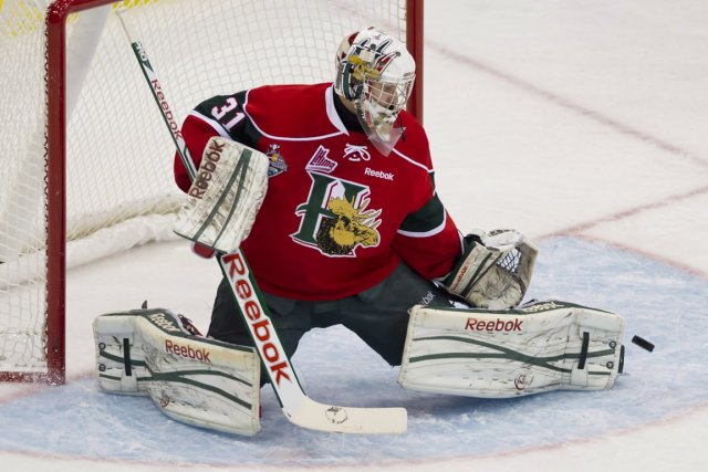 Les performances du gardien Zachary Fucale avec les Mooseheads... (Photo Liam Richards, PC)