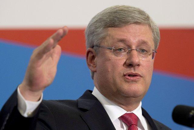 Le premier ministre du Canada, Stephen Harper, a... (Photo Adrian Wyld, La Presse Canadienne)