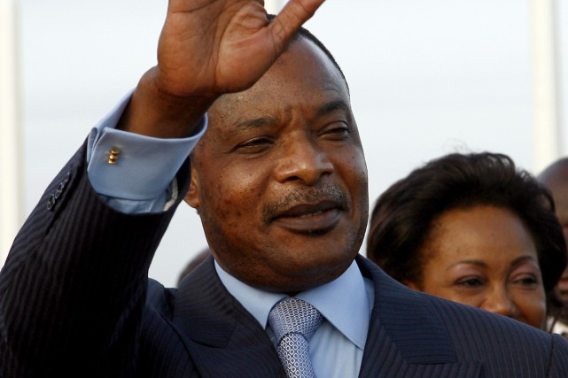 Le président sortant du Congo Denis Sassou Nguesso... (Photo Issouf Sanogo, archives AFP)