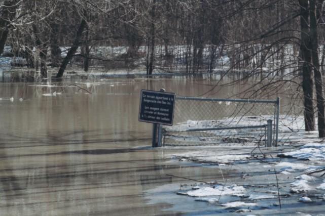 Le niveau de l'eau monte au printemps dans... (Photo fournie par Lorraine Moquin)