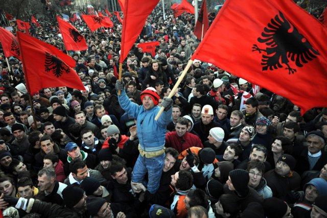 L'indépendance du Kosovoa été proclamée le17février2008.... (Archives AFP)