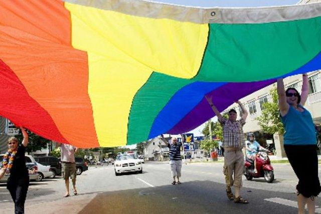 Des opposants àla nouvelle loi anti-gai de la... (Photo Archives PC)