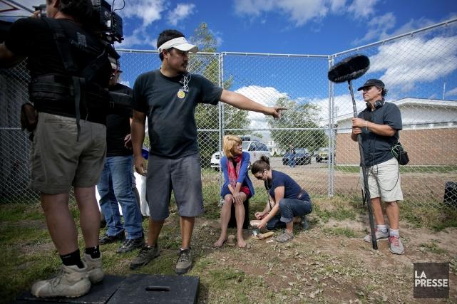 L'équipe du film La gang des hors-la-loi au... (PHOTO MARCO CAMPANOZZI, LA PRESSE)