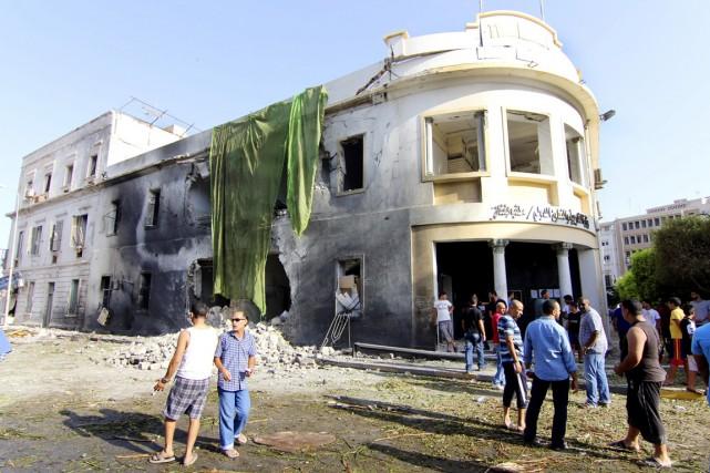 L'attaque qui a visé la mission diplomatique américaine... (PHOTO MOHAMMED EL-SHAIKY, archives AP)