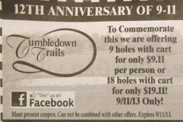 La publicité duTumbledown Trails est parue d'un journal... (PHOTO AP)