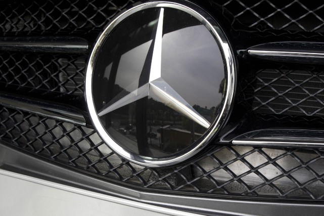 Daimler est le fabricant des Mercedes-Benz.... (Photo Patrick Kovarik, Agence France-Presse)