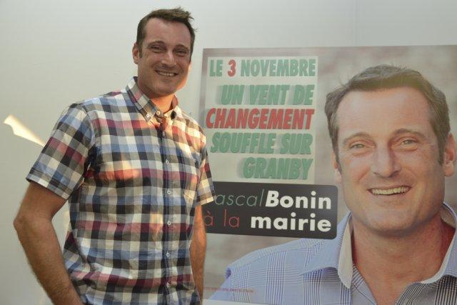 L'aspirant maire Pascal Bonin dit avoir décidé de... (photo Maxime Sauvage)