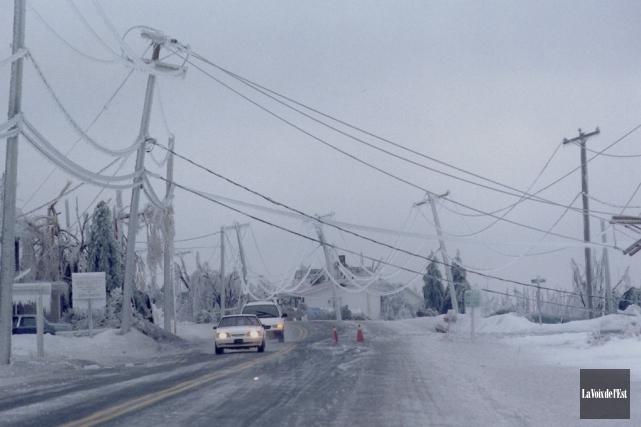 Le Québec a été touché par une tempête... (photo archives La Voix de l'Est)