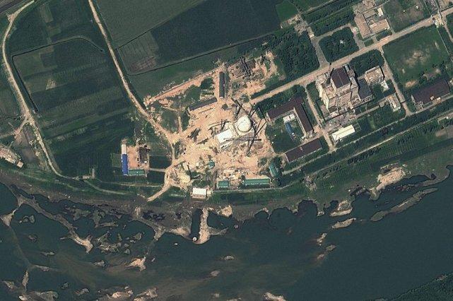 Le réacteur nucléaire de Yongbyon date des années... (Photo GeoEye Satellite)