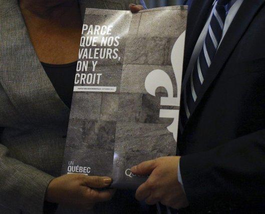 La charte des valeurs québécoises, objet d'unité ou... (Photo MATHIEU BéLANGER, reuters)
