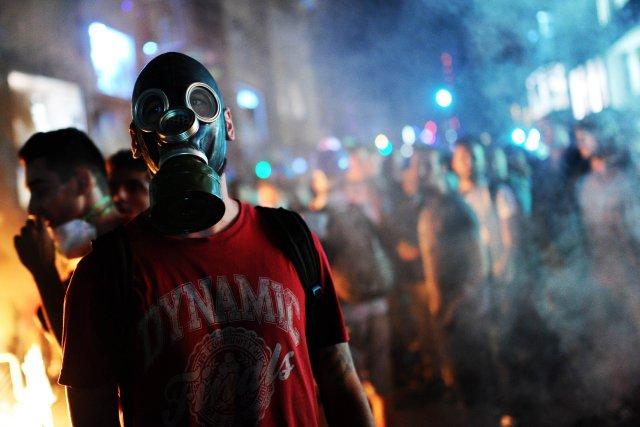 La vague de contestation politique sans précédent qui... (Photo BULENT KILIC, AFP)