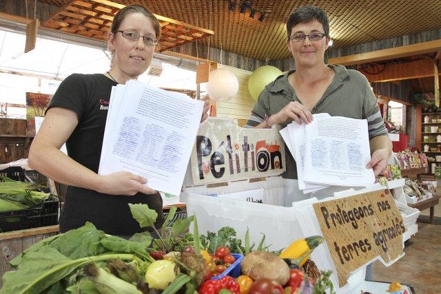 Marielle Bouchard et AmélieLeclerc,de La Tomate joyeuse, s'étaient... (Le Soleil, Jocelyn Bernier)