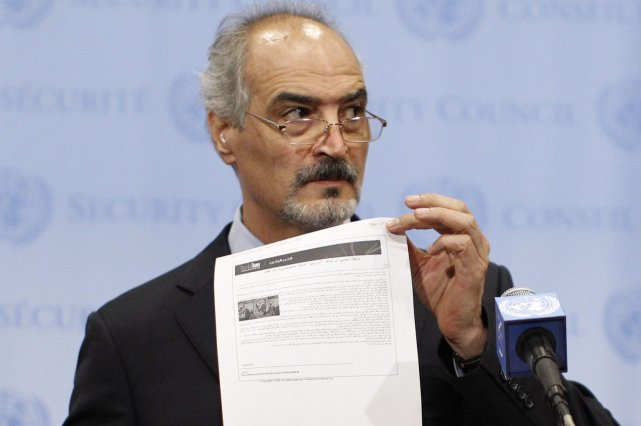 L'ambassadeur syrien à l'ONU Bachar Jaafari a affirmé... (Photo Brendan McDermid, Reuters)