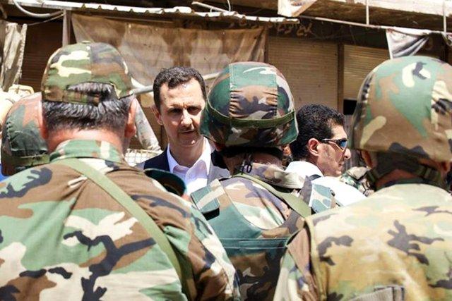 Sur cette photo datée du 1er août et... (PHOTO ARCHIVES AP/PRÉSIDENCE SYRIENNE VIA FACEBOOK)