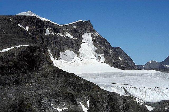 Le pic sud du Kebnekaise, situé dans l'extrême... (PHOTO WIKIPÉDIA)