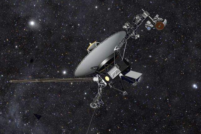 Voyager 1... (Dessin fournie par la NASA)