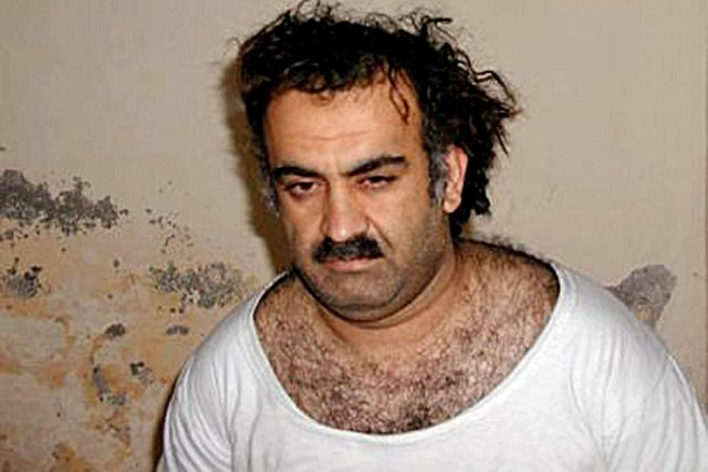 Khaled Cheikh Mohammed, en 2003, deux ans après... (Photo archives AFP)