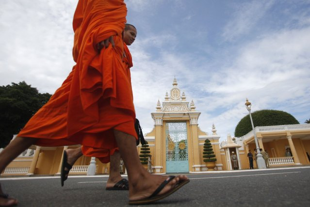 La devanture du palais royal cambodgien.... (PHOTO SAMRANG PRING, Reuters)