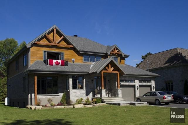 La fameuse maison que se faisait construire l'agent... (Photo Olivier Jean, La Presse)
