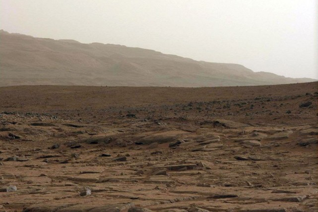Surface de la planète Mars.... (Photo archives AFP)