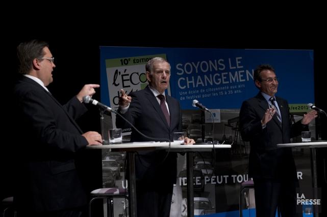 Pour les candidats à la mairie de Montréal... (Photo Olivier Jean, La Presse)