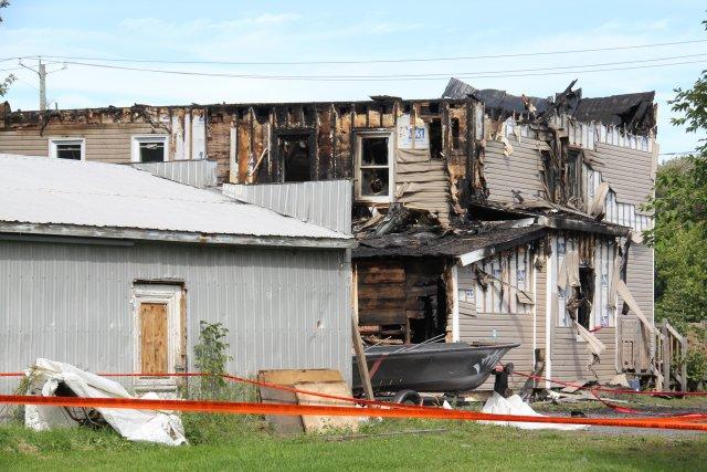 Important dénouement à la suite de l'incendie qui a fait une victime à Farnham,... (archives La Voix de l'Est)