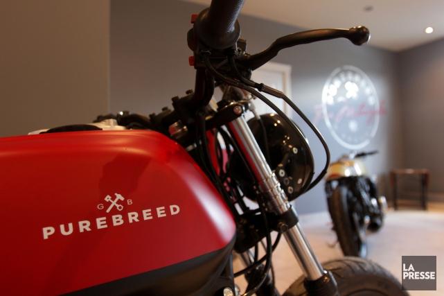 Pour son fondateur, Guillaume Brochu, les motos Purebreed... (PHOTO SÉBASTIEN PEDRAGLIO, LA PRESSE)