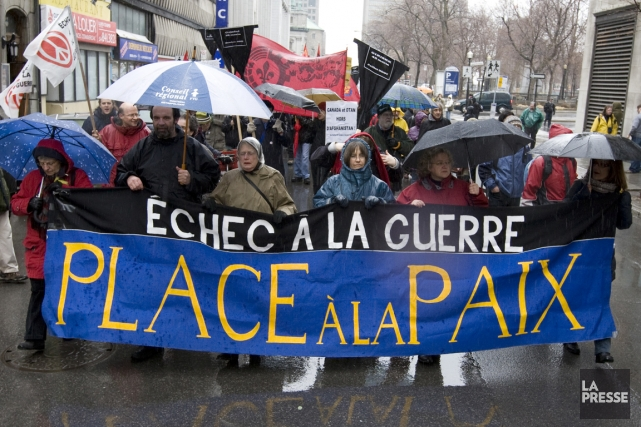 En cette Journée internationale de la paix, le Collectif Échec à la guerre... (PHOTO ARCHIVES LA PRESSE)