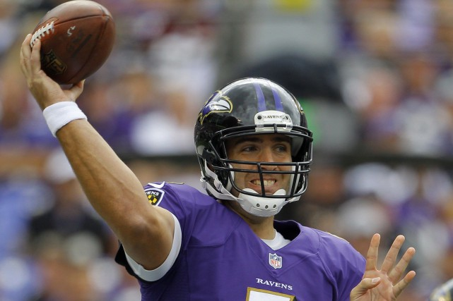 Joe Flacco... (Photo Richard Clement, archives Reuters)