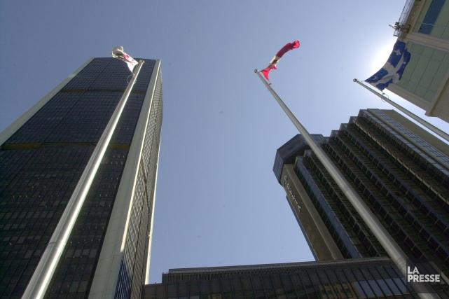La Tour de la Bourse, à Montréal.... (Photo archives La Presse)