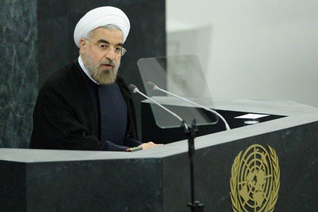 Hassan Rohani a prononcé un discours devant l'ONU... (Photo: AFP)