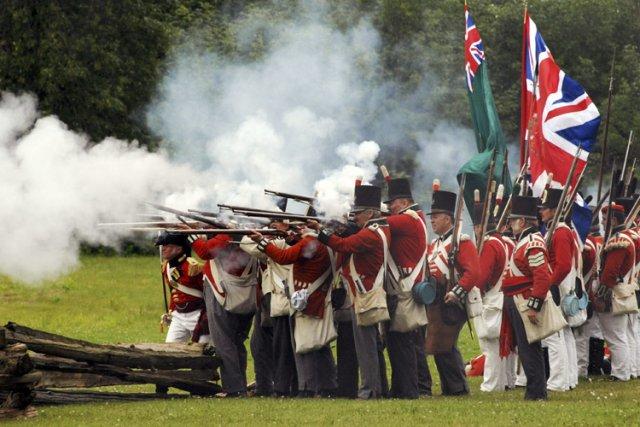 Des scènes de bataille ont été reconstituées pour... (Photo: PC)