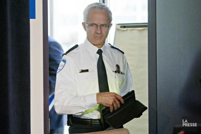 Le chef du SPVM Marc Parent a témoigné... (Photo: Patrick Sanfaçon, La Presse)