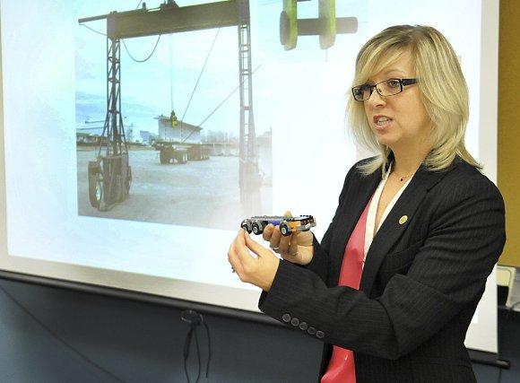 L'ingénieure Gwendoline Demers a dirigé l'enquête de la... (Photo Rocket Lavoie)