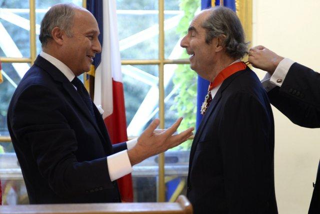 Le ministre français des Affaires étrangères, Laurent Fabius,... (PHOTO TIMOTHY CLARY, AFP)