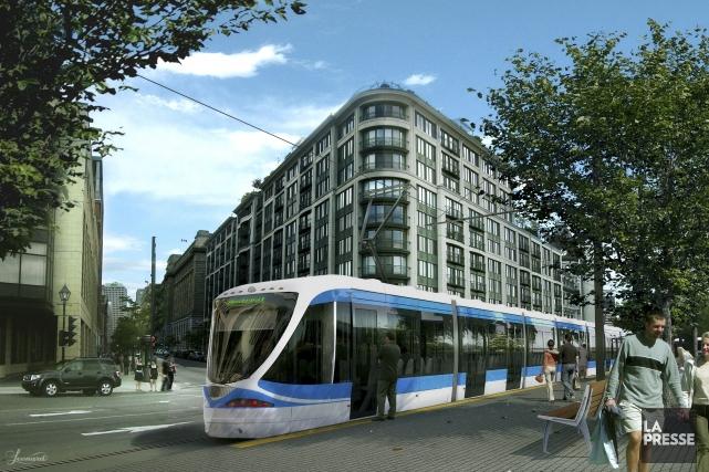 «Le tramway, on oublie ça [...]. L'argent ne... (Photo photo-montage La Presse)