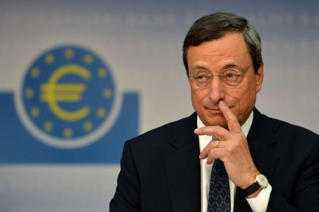 Le président de la Banque centrale européenne (BCE),... (Photo archives AFP)