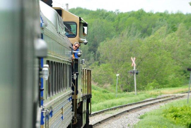 Le train touristique L'Orford Express se rendra jusqu'à Lac-Mégantic cet... (Archives La Tribune, Jessica Garneau)