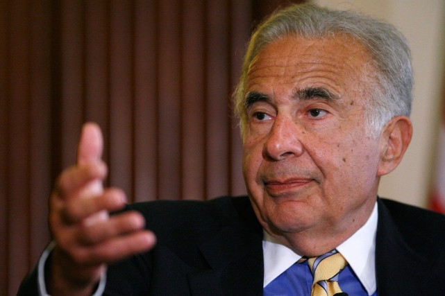 Le milliardaire Carl Icahn a fait la piastre... (Photo archives Reuters)