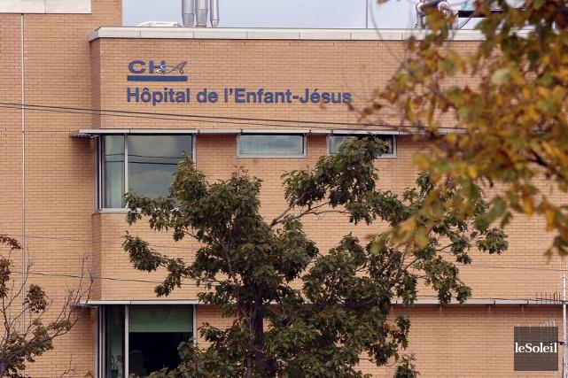 L'hôpital l'Enfant-Jésus à Québec fait partie des trois... (Le Soleil, Jean-Marie Villeneuve)