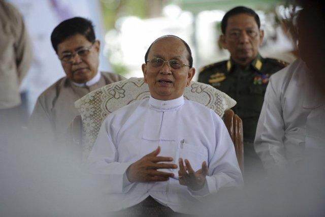 Le président de la Birmanie Thein Sein durant... (Photo Soe Than Win, AFP)