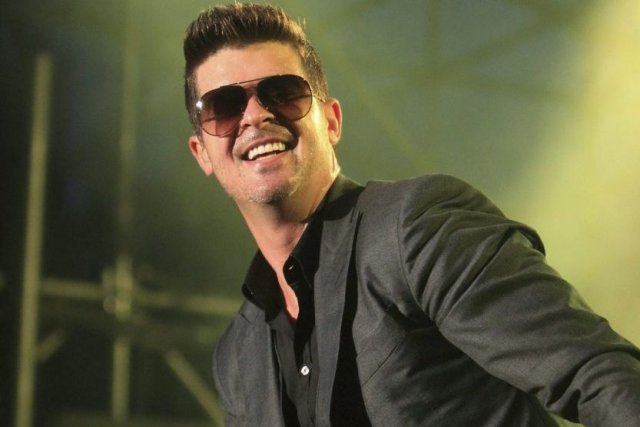 Robin Thicke... (Photo: La Presse Canadienne)