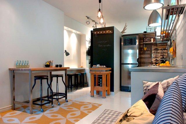un max de style dans 385 pieds carr s mich le laferri re habitation. Black Bedroom Furniture Sets. Home Design Ideas