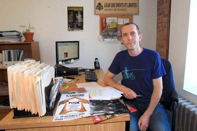 Sébastien Harvey, coordonnateur de la section locale de... (Le Soleil, Pascal Ratthé)