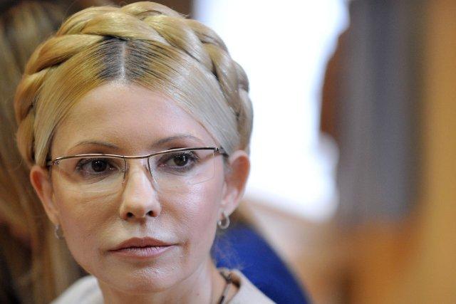 Mme Timochenko est emprisonnée depuis deux ans, dans... (PHOTO SERGEI SUPINSKY, ARCHIVES AFP)