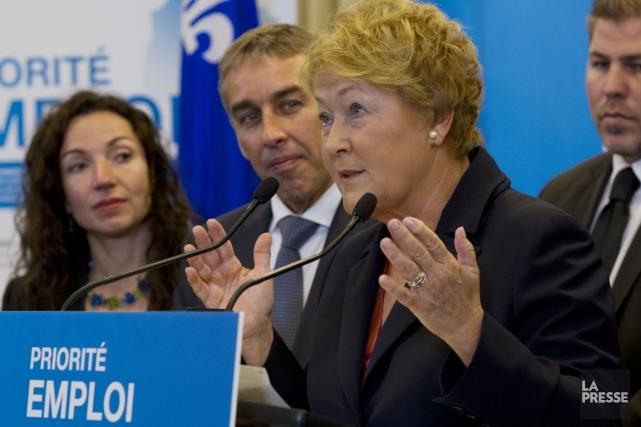 La première ministre Pauline Marois a levé le... (PHOTO OLIVIER JEAN, LA PRESSE)