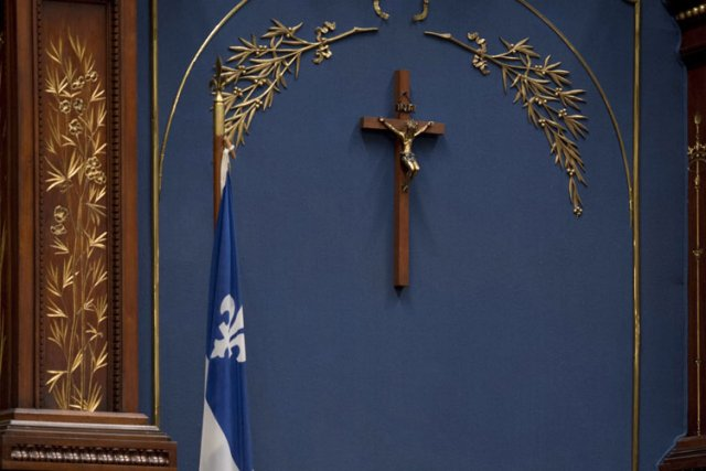 Maurice Duplessis avait fait installer un crucifix au... (Photo: PC)
