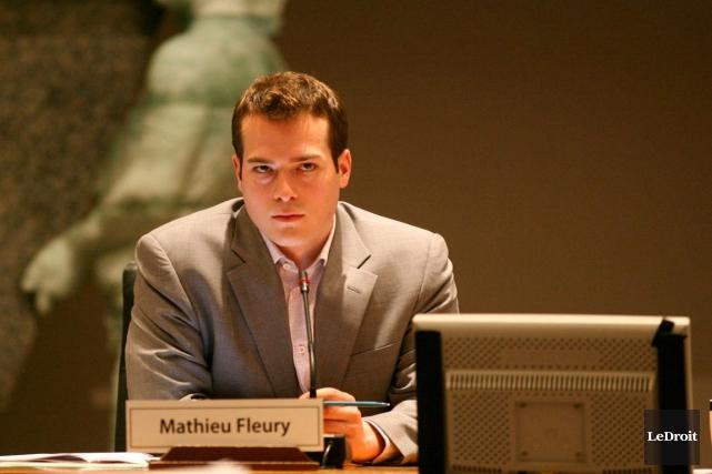 Le conseiller de Rideau-Vanier, Mathieu Fleury.... (Archives, LeDroit)