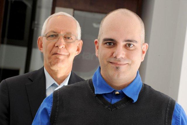 Yannick Lalonde (à droite), d'id-Stratégies, a demandé au... (Le Soleil, Patrice Laroche)